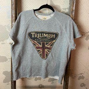Lucky Brand Triumph cut off sweatshirt L